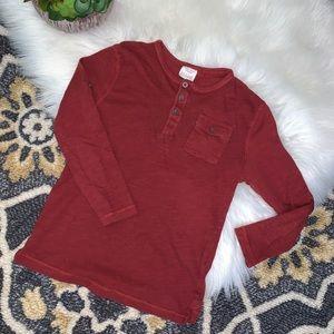 Zara Dark Red/Maroon Long Sleeve Tee